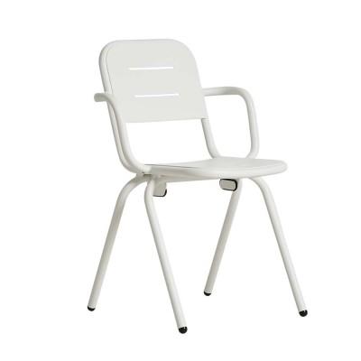 Ray café armchair white