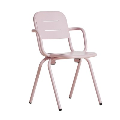Ray café armchair rose pink
