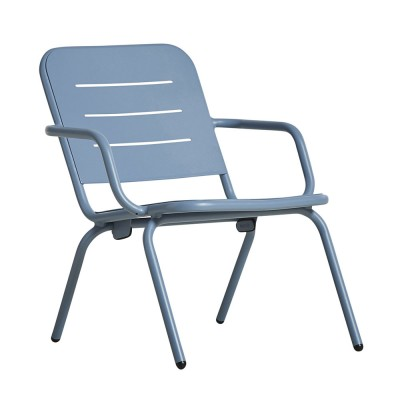 Chaise lounge Ray bleu (lot de 2)