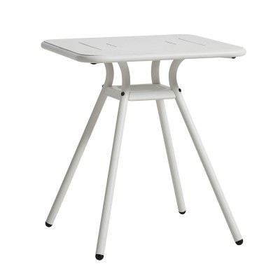 Ray Square café table white