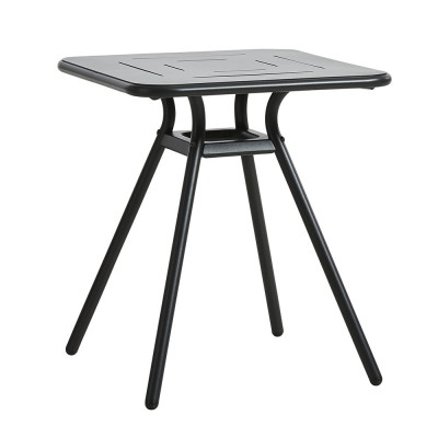 Ray Square café table charcoal black