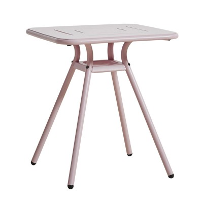 Ray Square café table rose pink