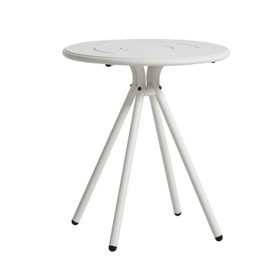 Table de café Ray Round blanc