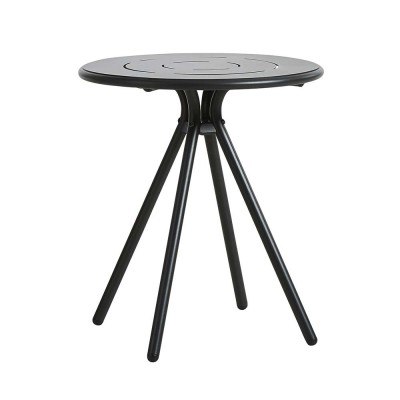 Ray Round café table charcoal black