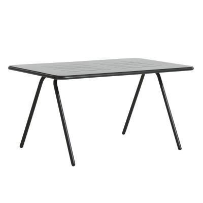 Table à manger Ray noir charbon 140 cm