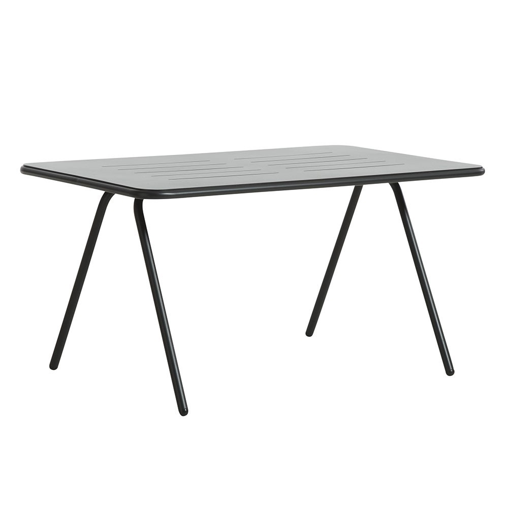 table manger ray noir charbon 140 cm woud. Black Bedroom Furniture Sets. Home Design Ideas