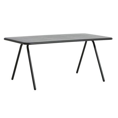 Ray dining table charcoal black 160 cm