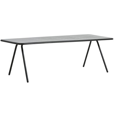 Ray dining table charcoal black 220 cm