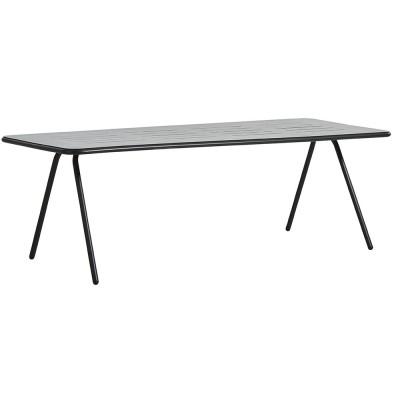 Table à manger Ray noir charbon 220 cm