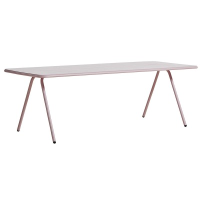 Ray dining table rose pink 220 cm