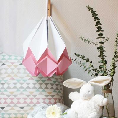 Hanahi pendant lamp white & pink Tedzukuri Atelier
