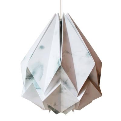 Hanahi pendant lamp paper winter pattern Tedzukuri Atelier