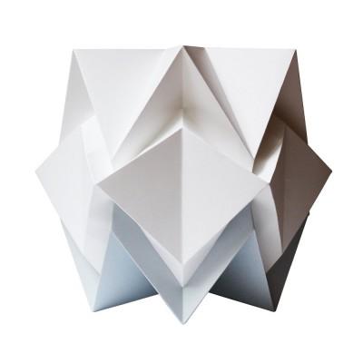 Hikari table lamp paper white & grey Tedzukuri Atelier
