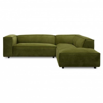 Dunbar sofa 3 seaters with longchair Adore 59 Moss Fést