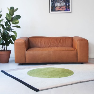 Dunbar sofa 2 seaters leather Da Silva 15006 Terracotta Fést