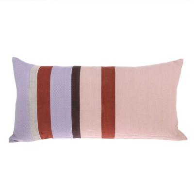 Linen striped cushion D