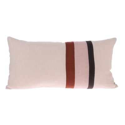Linen striped cushion C