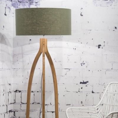 Annapurna floor lamp linen green forest