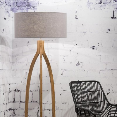 Annapurna floor lamp linen light grey