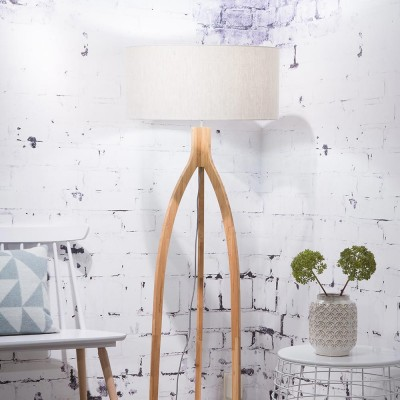 Annapurna floor lamp linen light