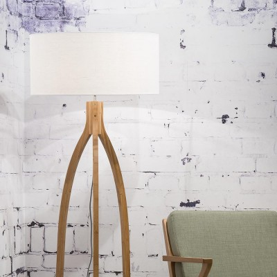 Annapurna floor lamp linen white