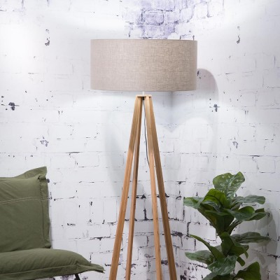 Everest floor lamp linen dark