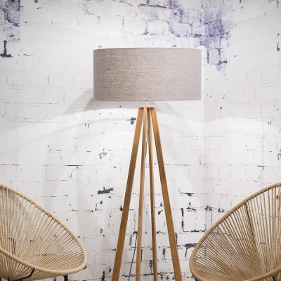 Everest floor lamp linen light grey