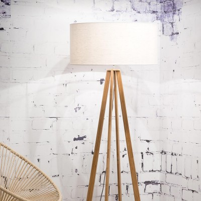 Everest floor lamp linen white