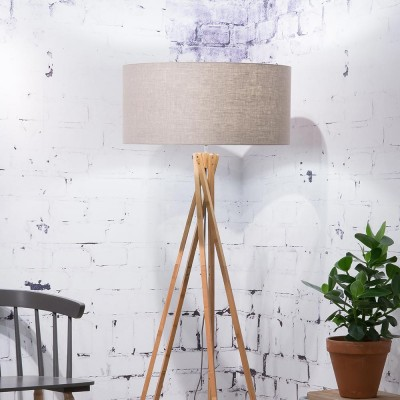 Kilimanjaro floor lamp linen dark