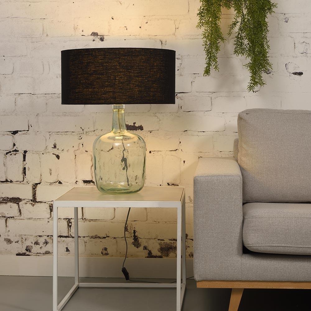 Murano table lamp linen black L