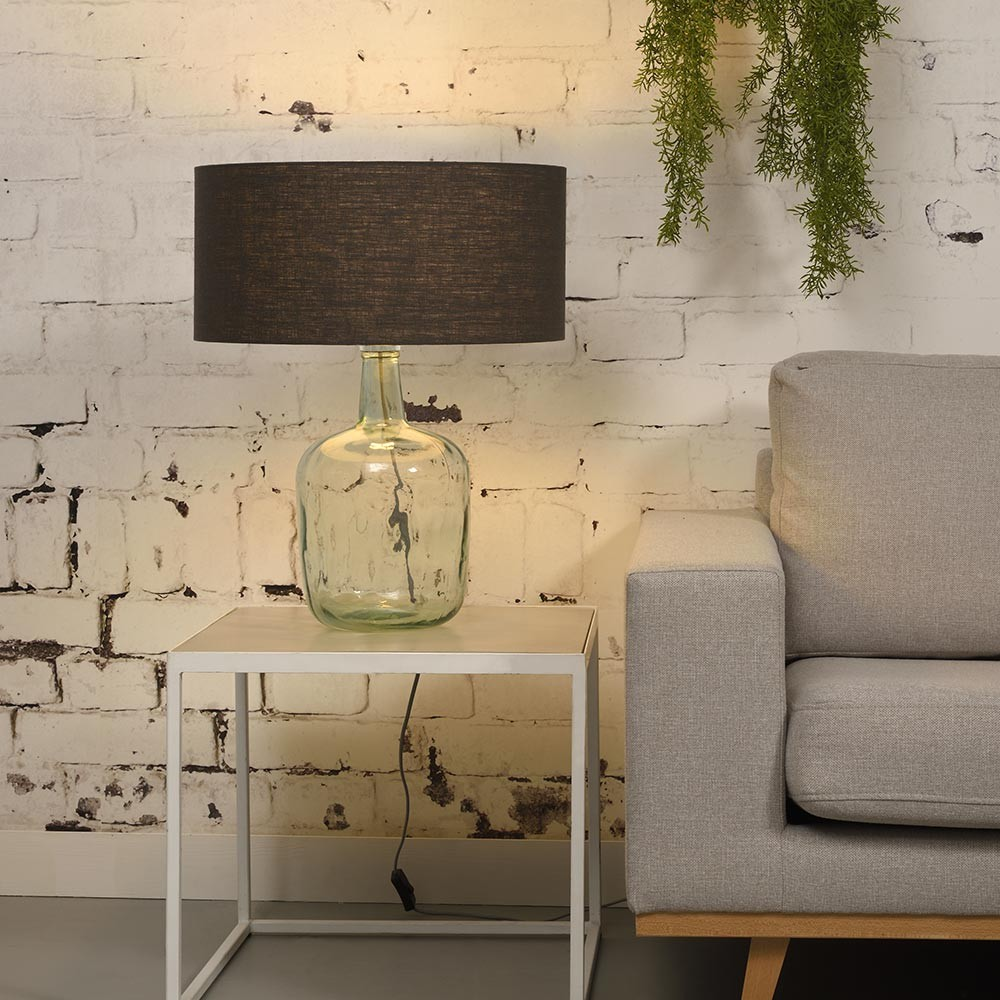 Murano table lamp linen dark grey L