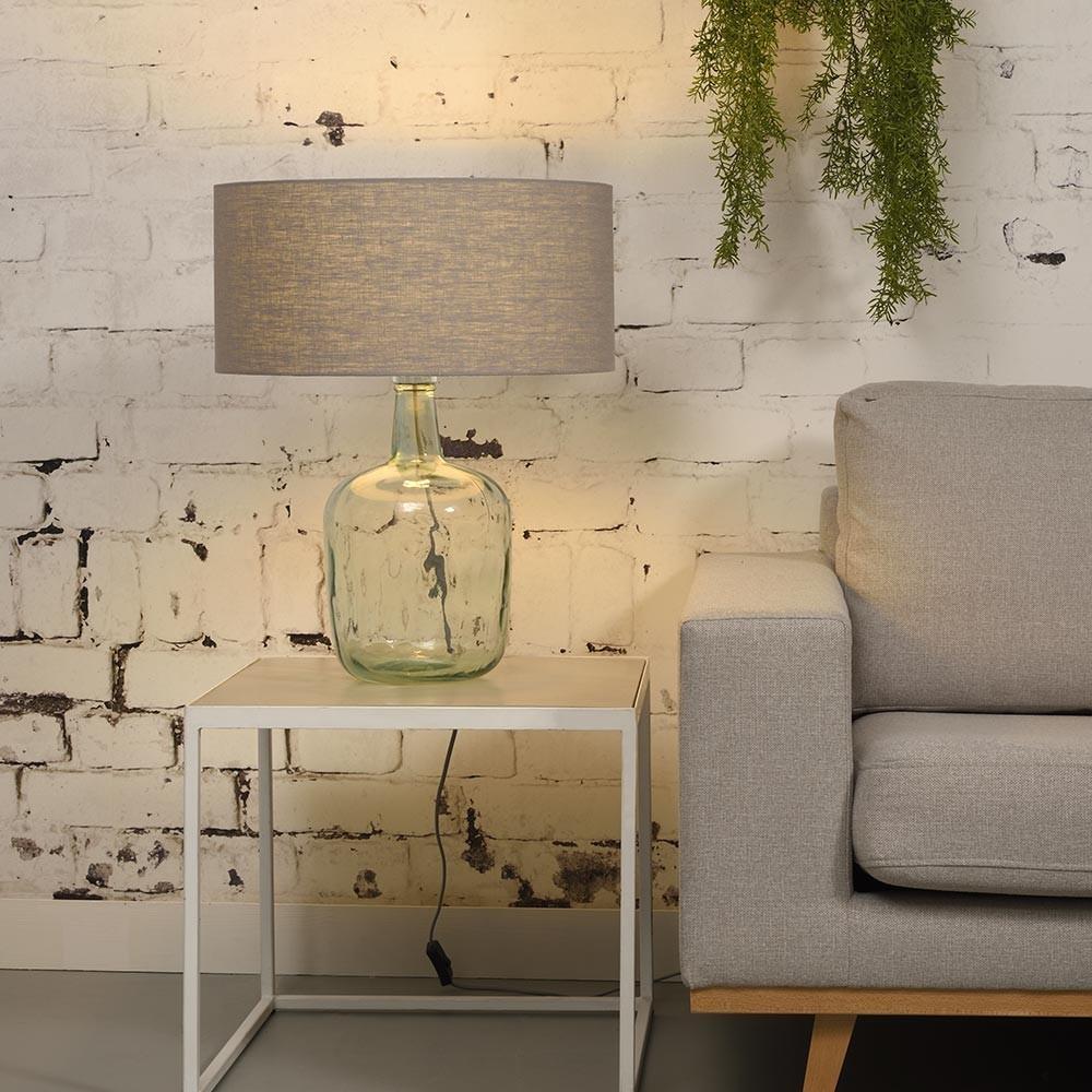 Murano table lamp linen light grey L