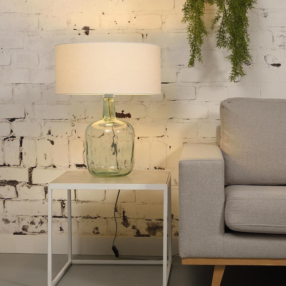 Murano table lamp linen white L