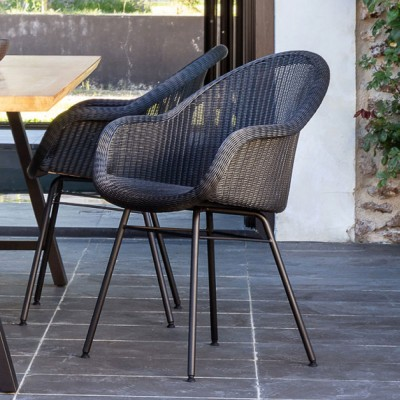 Edgard dining chair steel A Vincent Sheppard