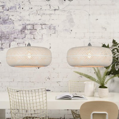 Palawan double pendant lamp white