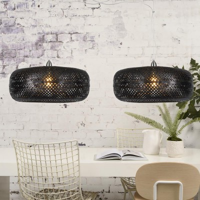 Palawan double pendant lamp black