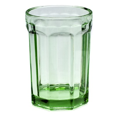 Fish & Fish glass L transparent green (set of 4)