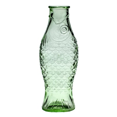 Fish & Fish bottle 1L transparent green Serax