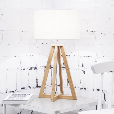 Everest table lamp linen white