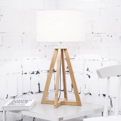 Lampe à poser Everest lin blanc