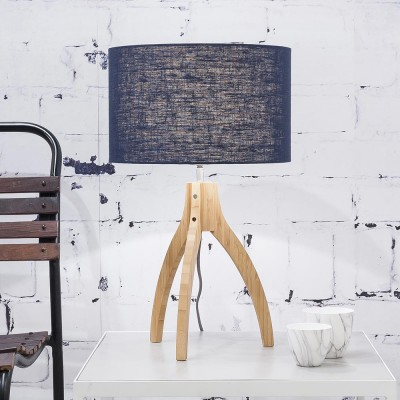 Annapurna table lamp linen blue denim