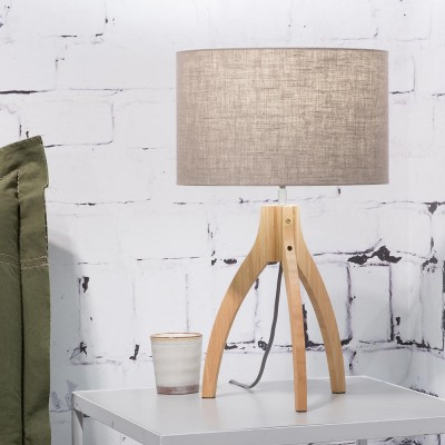 Annapurna table lamp dark linen