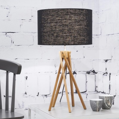 Kilimanjaro table lamp linen black