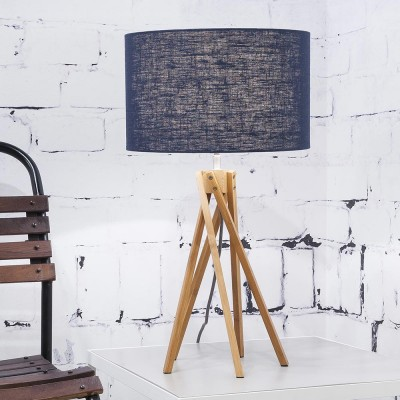 Kilimanjaro table lamp linen blue denim