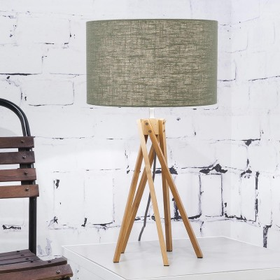 Kilimanjaro table lamp linen green forest