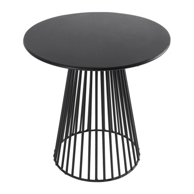 Table basse Garbo noir Ø40 cm