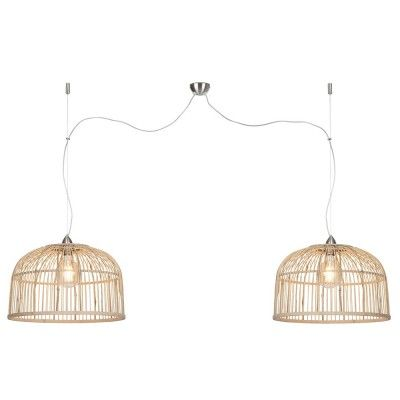 Suspension double Borneo naturel L