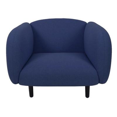 Moïra armchair blue fabric