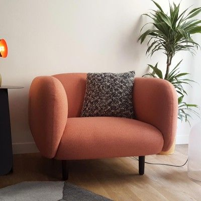 Moïra armchair pink fabric