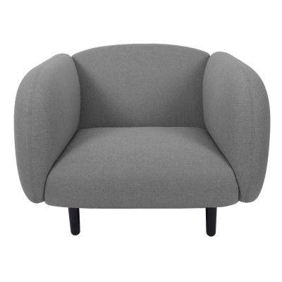 Moïra armchair light grey fabric